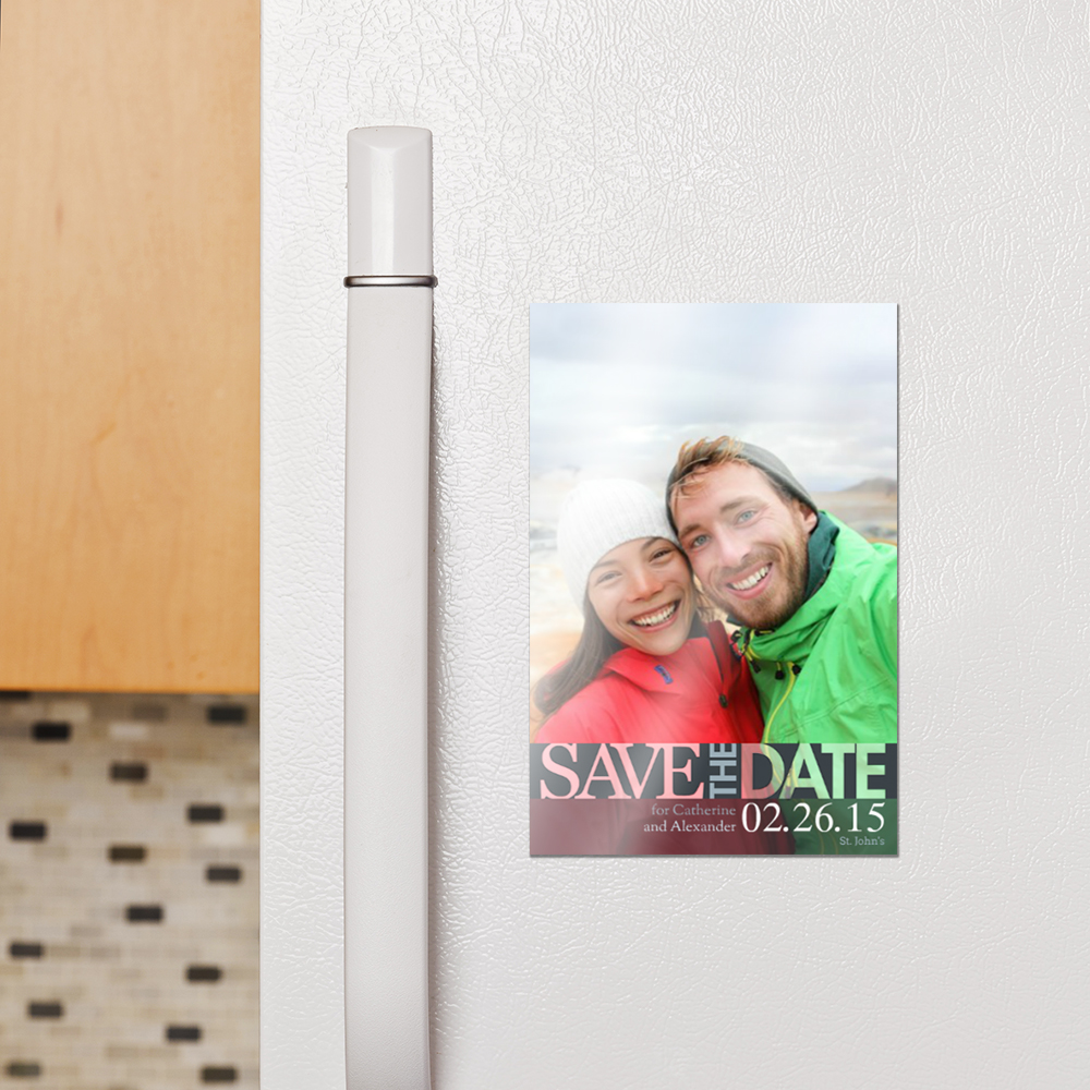 Image showcasing our magnet product on a fridge