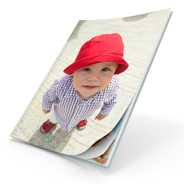 Image showcasing our Printable Cover Photobook with a soft cover